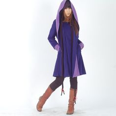 Far Away from Home  cashmere hood coat Y1121 by idea2lifestyle, $128.00