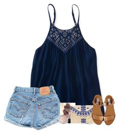 """""""Home from camp. Didn't want to leave """" by fashionpassion2002 ❤ liked on Polyvore featuring Aéropostale, Levi's, Stella & Dot, Steve Madden and MAC Cosmetics"""