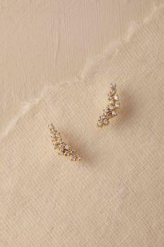 Gold Sonya Crystal Earrings | BHLDN