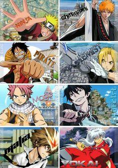 Naruto, Bleach, One Piece, Fullmetal Alchemist Brotherhoo… – Fairy Tale Anime Anime One, I Love Anime, Otaku Anime, Anime Guys, Manga Anime, Animes Yandere, Fanarts Anime, Anime Characters, Tous Les Anime
