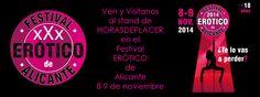 Horasdeplacer.com estará presente en el FESTIVAL ERÓTICO DE ALICANTE. Pasate por nuestro stand. Descarga tu bono descuento en el siguiente enlace http://www.festivaleroticodealicante.com/entradas-y-bono-descuento/ #festival #erótico #Murcia #Alicate #Albacete #Valencia #sexshop