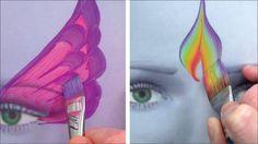 5 Kinderschminken Pinsel für coole Striche und Effekte / Kinderschminken...
