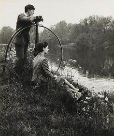 Bill Brandt - Penny-farthing for their thoughts, from A Day on the River, 1941. S)