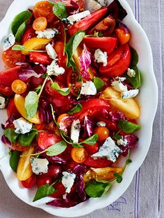 Heirloom-Tomato Salad with Blue Cheese