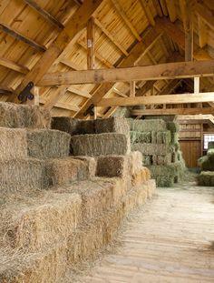 Hay Loft in an Great Plains Eastern Horse Barn  www.sandcreekpostandbeam.com https://www.facebook.com/pages/Sand-Creek-Post-Beam-Traditional-Post-Beam-Barn-Kits/66631959179