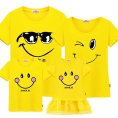 f055459653d Casual Smile Cartoon Short Sleeve Family Matching T-Shirts