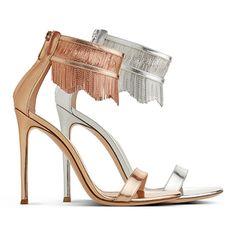 Gianvito Rossi | Josephine metal fringe sandal | SS 2014