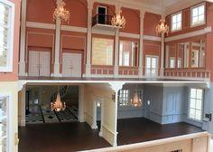 Regency dollhouse interior
