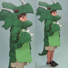 vintage TRICERATOPS DINOSAUR COSTUME sewing pattern ( for the bridesmaids)