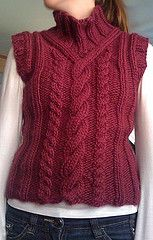 Ravelry: 97-11 Sweater or vest with cable pattern pattern by DROPS design