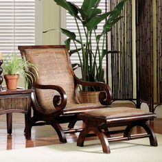 Ibolili Milano Lazy Arm Chair and Ottoman - Modern Bedroom Furniture, Home Furniture, Furniture Design, Handmade Furniture, West Indies Decor, West Indies Style, British Colonial Decor, Colonial Furniture, Tropical Decor