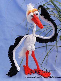 Amigurumi Crochet Pattern Stuart the Stork von IlDikko auf Etsy