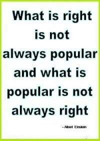 Right and popular