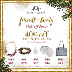 Cross off your gift list with 40% OFF present-ready picks – now through Wednesday, November 30th! Click to shop @ MaryMoStyle.com