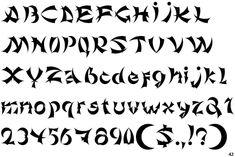 Ninjago writing / font