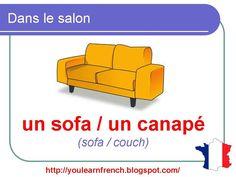 French Lesson 87 - Living Room - Le salon La salle de séjour - Furniture Household Vocabulary - YouTube