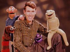 """The earliest Muppets date to 1955, when a freshman at the University of Maryland named Jim Henson and his future wife, Jane Nebel, performed the first of 86 five-minute sketches of """"Sam and Friends"""" on WRC-TV, the Washington, D.C. affiliate of NBC."""