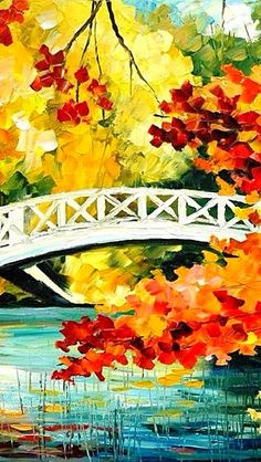 "BRIDGE OVER INNOCENCE~c.c.c~By Leonid Afremov - Afremov (Detail) ~ Palette Knife Oil Painting On Canvas~ http://afremov.com/-Size-30""x40"" html?Leonid Afremov"
