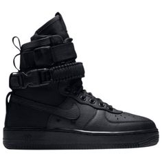Buy and sell authentic Nike shoes on StockX including the Nike SF Air Force 1 High Triple Black (W) and thousands of other sneakers with price data and release dates. Nike Force 1, Nike Air Force Ones, Casual Sneakers, All Black Sneakers, Sneakers Nike, Nike Trainers, Fashion Boots, Sneakers Fashion, Men's Fashion