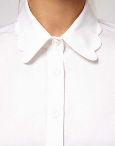 Image 3 of ASOS Shirt With Scalloped Collar