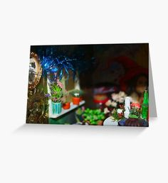 Green Witch Christmas Greeting Card