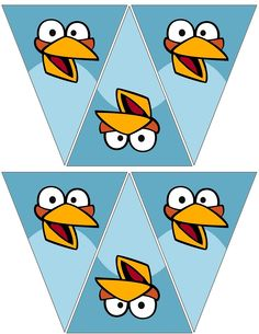 Angry Bird Blue Banners Free To Use And Free To Share