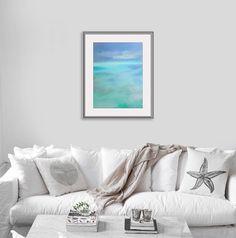 Meer Malerei | Sofortiger Download | Türkise Wand Kunst | Blaue Wand Kunst  | Abstrakt Meer