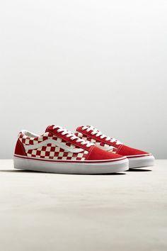542e8dc2b9673 Vans Old Skool Checkerboard (Red) Mens Vans Shoes