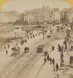 1860 - Le Pont-Neuf, vu du quai des Grands Augustins