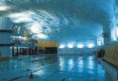 Itäkeskus swimming pool near Helsinki, Finland Beautiful Buildings, Beautiful Places, Underground Pool, Visit Helsinki, Dream Pools, Interesting History, Capital City, Water Features, Summertime