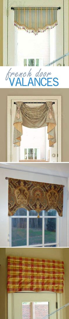 #valances for French doors (patio doors) #custom
