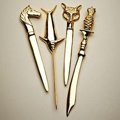 Brass Letter Opener from highstreetmarket.com; $16 each. Love the fox one :-) Much cheaper than Jonathan Adler letter openers!