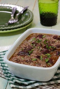 Pork Recipes, Cooking Recipes, Healthy Recipes, Portuguese Recipes, Yams, Risotto, Food And Drink, Dessert Recipes, Soup