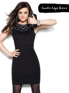 LucyHale looks fabulous in Avon's Exotic Edge dress! I love the cut outs. Shop@ http://clarasosa.avonrepresentative.com