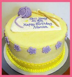 Cupcake Quest Knitting Cake