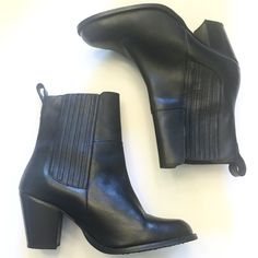 Gorgeous H&M Black Genuine Leather Booties So pretty and chic and perfectly on trend! Look very similar to styles by Zara, Saint Laurent, and Alexander Wang. Excellent pre worn condition, no noticeable flaws. Size 39. Best fits a size 8-8.5. No trades!! 05101660gwb H&M Shoes Ankle Boots & Booties