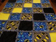 Baby Rag quilt made from Batman fabric Rag by stitchinawayboutique - Be Batman - Ideas of Be Batman - Baby Rag quilt made from Batman fabric Rag by stitchinawayboutique Batman Toddler Bed, Baby Batman, Batman Batman, Batman Quilt, Superhero Quilt, Batman Nursery, Batman Room, Baby Rag Quilts, Kid Costume