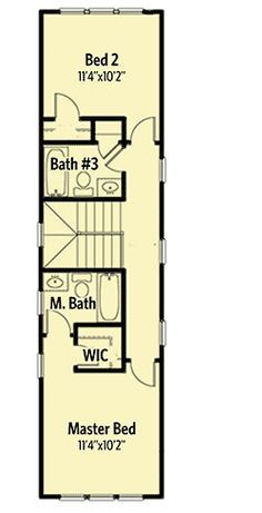 Plan 31533gf Extremely Narrow House Plan For The Special Lot Narrow House Plans Narrow House House Plans