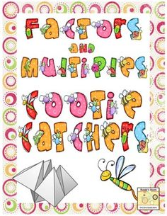 Runde's Room: Math Journal Sundays - Factors and Multiples Math Resources, Math Activities, Fifth Grade Math, Fourth Grade, Math Multiplication, Fractions, Factors And Multiples, Homeschool Math, Homeschooling