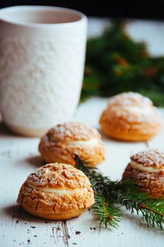 Gingerbread Cream Puffs with White Chocolate Chantilly | Hint of Vanilla