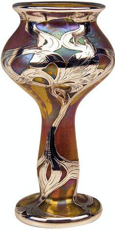 Vase Loetz Widow Art Nouveau Phaenomen Gre Silver Overlay, circa 1900