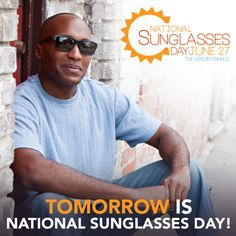 Tomorrow is National Sunglasses Day! Head over to www.stingray-eyewear.com to get a pair for yourself!