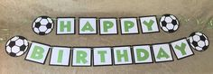Soccer Happy Birthday Banner. Can Be Personalized With Name And/Or Age