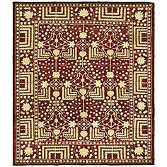 Yah.  For the celebrity home in your own mind room.  //  Add a dash of comfortable style to any room with a hand-woven wool rugThis Kazak rug combines traditional motifs to create a unique masterpieceThe design of this rug features a maroon background with accents of ivory and gold