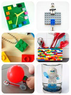 Manualidades infantiles con legos. Ideas para hacer manualidades fáciles para niños con legos: llaveros, relojes, collares, coches y mucho más.