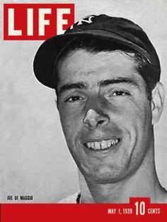 Life Magazine Cover Copyright 1939 Joe DiMaggio - www.MadMenArt.com | Life…
