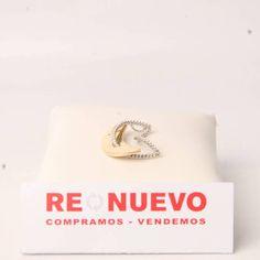 Colgante luna de oro bicolor con circonitas de segunda mano E277178J   Tienda online de segunda mano en Barcelona Re-Nuevo