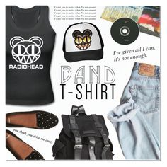 """I'm With the Band: Radiohead"" by anna-anica ❤ liked on Polyvore featuring Joe's Jeans, POLICE, bandtshirt and bandtee"