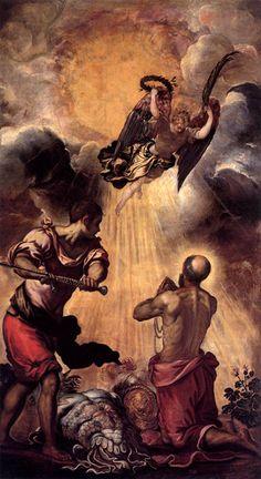 The martyrdom of Saint Paul: ca 1556 Jacopo Robusti Tintoretto