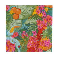 Bright floral napkins to match with all our tropical tableware! Feel like you're on a tropical island. Perfect for BBQs and summer garden parties.